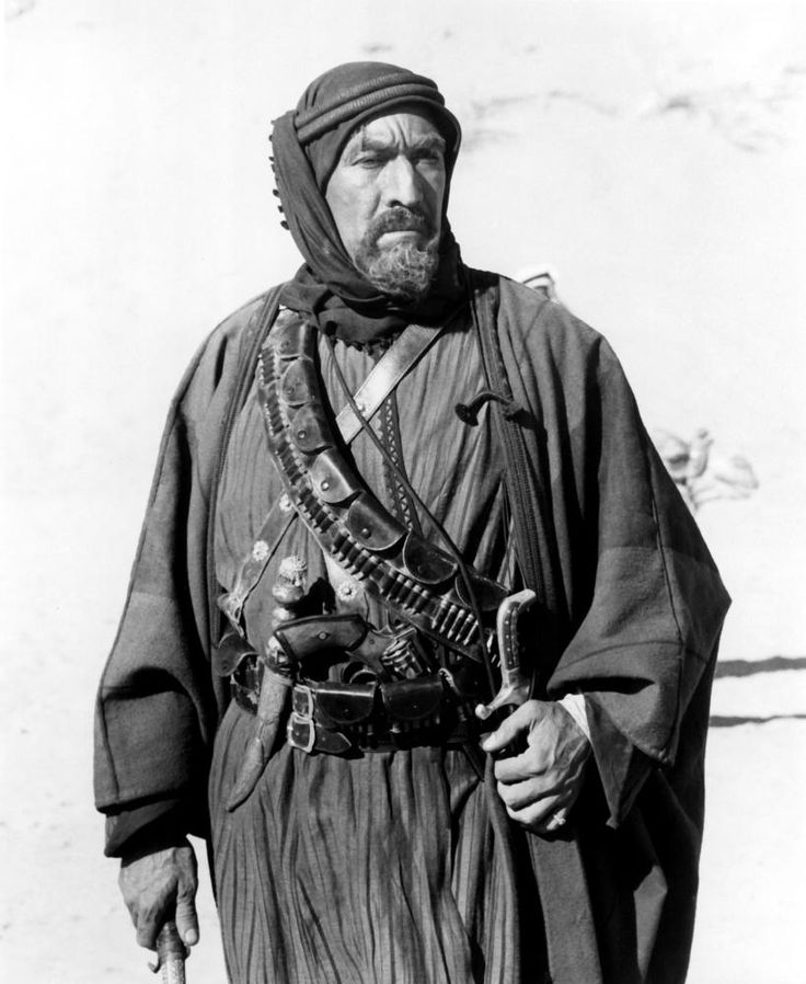 Auda abu Tayi - Anthony Quinn in Lawrence of Arabia (1962).
