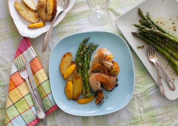 A 1 hour dinner including cornish hens, asparagus, and a potato side!