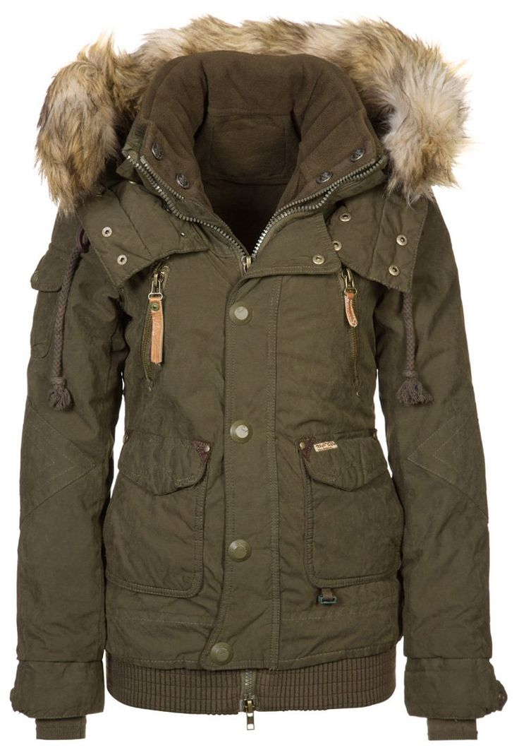 MARGRET - Winter jacket - olive <3. Everything about this is wonderful