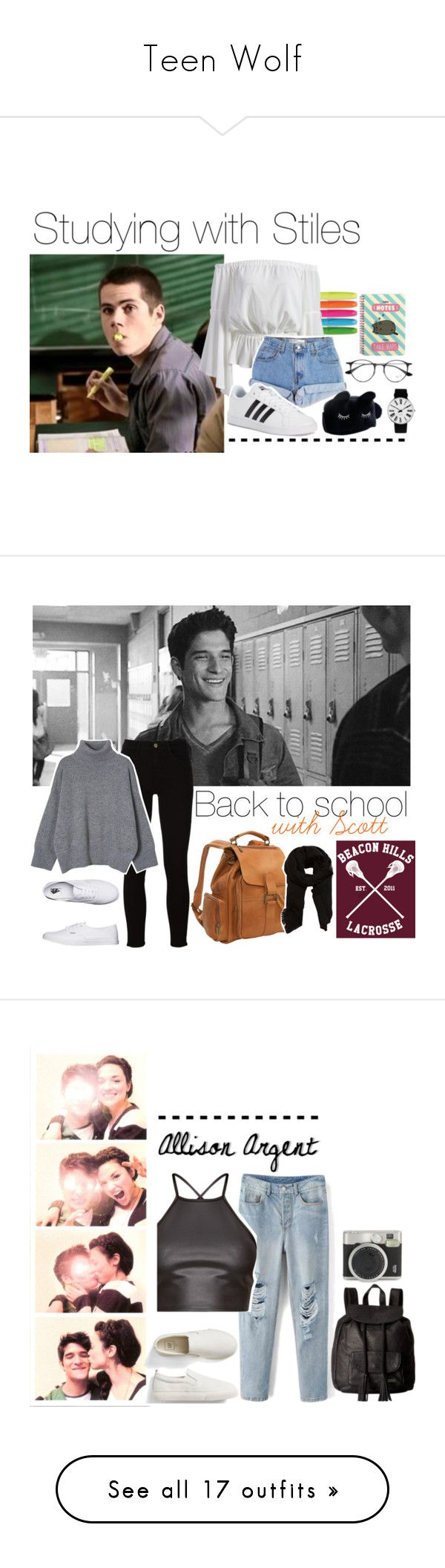 """Teen Wolf"" by pikenapayne ❤ liked on Polyvore featuring Pusheen, Levi's, adidas, Ray-Ban, Rosendahl, Frame, Vans, Le Donne, MANGO and Gap"
