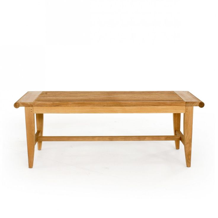 Westminster Teak Furniture   Laguna Teak Backless Bench 4 Ft   Bearing The  Familiar Scrolled Silhouette Of Its Collection, The Laguna Teak B.