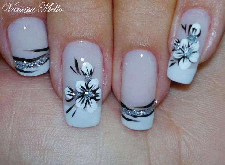 Potential bridal nails. love the French, not the flowers - https://rsullivan9645.avonrepresentative.com/ Find your perfect color and design and…