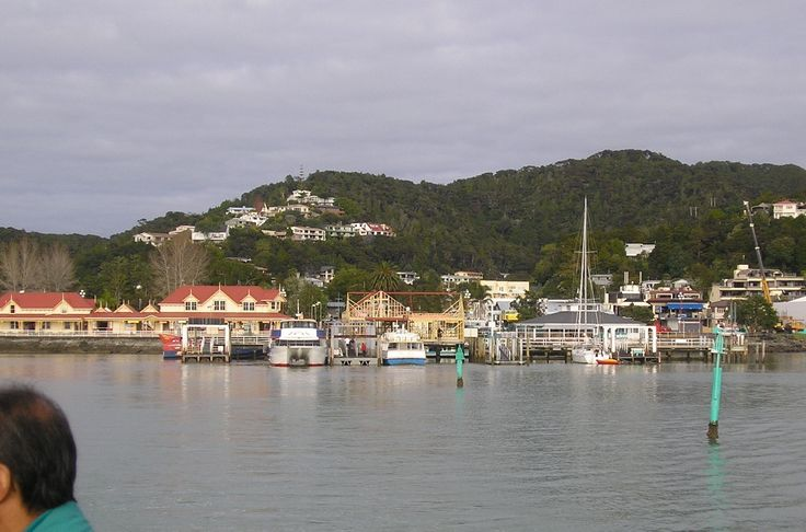 Leaving Paihia for a cruise around the Bay of Islands. Paihia is the main tourist town in the Bay of Islands in the far north of the North Island of New Zealand.