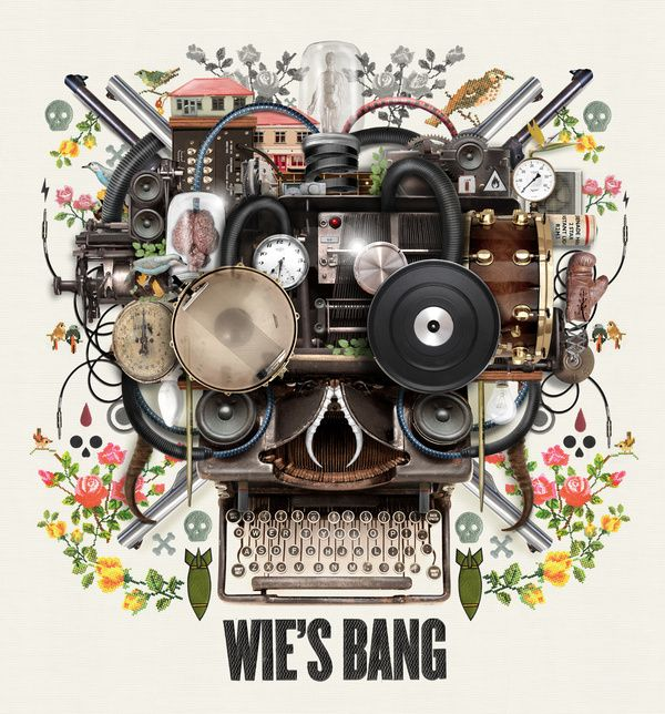 Van Coke Kartel - Wie's Bang - CD Cover Design by Merwe Marchand le Roux, via Behance