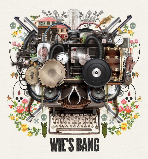 Van Coke Kartel - Wie's Bang - CD Cover Design by Merwe Marchand le Roux, via Behance