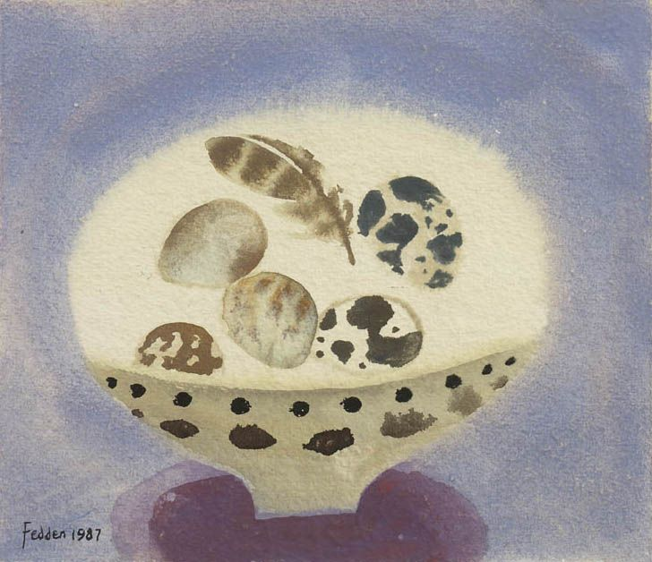 Mary Fedden | Eggs and Feather