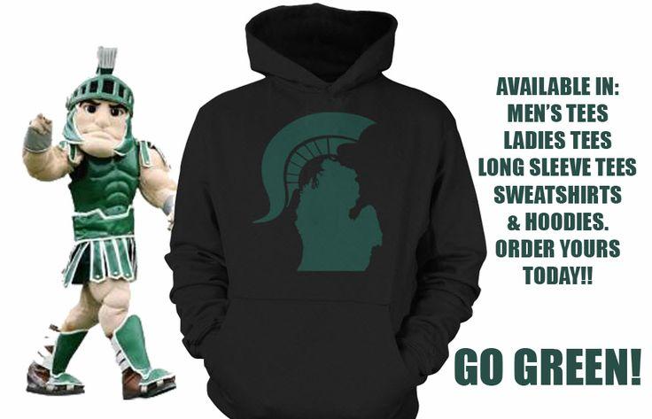 Order at www.teechip.com/SpartanState  Michigan State Spartans MSU Apparel Clothing Hooded Sweatshirt Tshirt