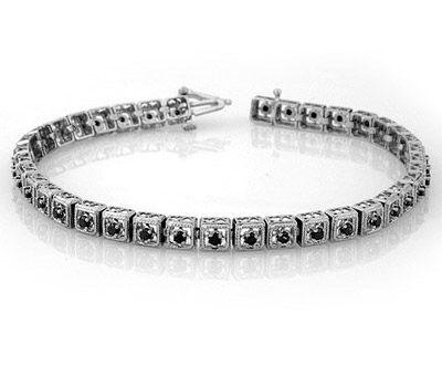 Natural 1.0 ctw Black Diamond Bracelet 10K White Gold ►► http://www.gemstoneslist.com/jewelry/black-diamond-bracelets.html?i=p