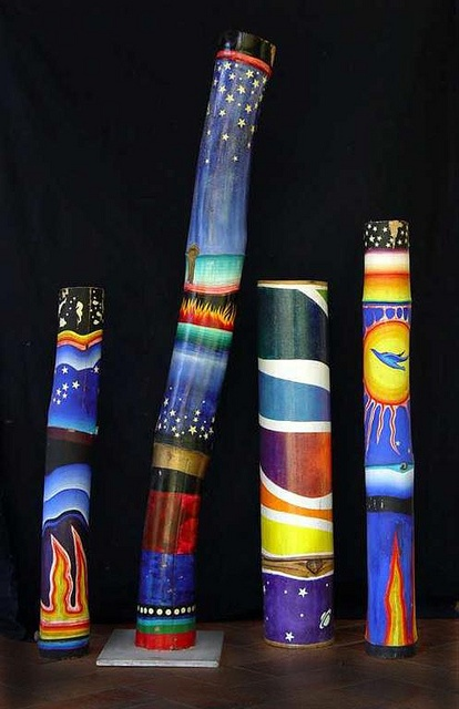 painted bamboos...love!!!