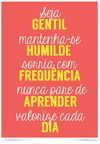 Imagem do Poster Frase Seja gentil mantenha-se humilde