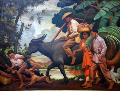 "izoleame:  Painting ""After the Day's Toil"" by Professor Vicente Alvarez Dizon         70 years after it left Philippine shores, the famous  first-prize-winning painting ""After the Day's Toil"" is finally located!  The masterpiece was bought in 1980 by Dr. Rogelio Pine, a Filipino  cardiologist who is based in New Jersey. He bought it from Mr. Daniel  Grossman of Grossman Gallery who previously bought it when IBM New York  unloaded several paintings in the late 70's. For several decades, the  Dizo"