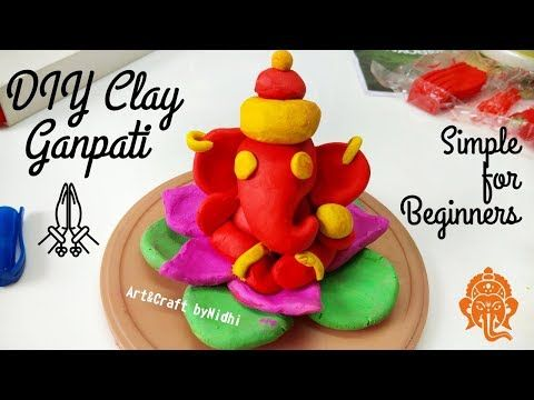 Youtube Beautiful Ganpati Idol Making With Clay Dough With Step By