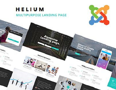 """Check out new work on my @Behance portfolio: """"Helium - 10 in 1 Multipurpose Joomla Landing Pages Temp"""" http://be.net/gallery/59287239/Helium-10-in-1-Multipurpose-Joomla-Landing-Pages-Temp"""