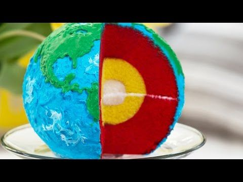 How To Make A Layered Earth Cake | Cooking Panda Simple Recipes