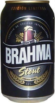 Cerveja Brahma Stout, estilo Sweet Stout, produzida por AmBev, Chile. 5.5% ABV de álcool.