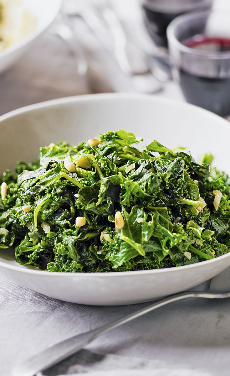 Heston Blumenthal's Easter braised kale and spinach - a dish packed with delicious garden greens, braised with a little vinegar and white wine. It's hearty and unbelievably easy to do.