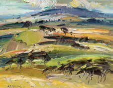 Towards Ruahine range from the Tararua's by JOHN BADCOCK
