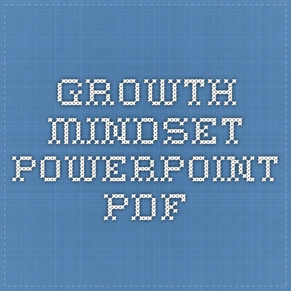 Growth mindset powerpoint pdf