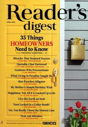 Reader's Digest....what I say...been reading the magazine since I began to read.