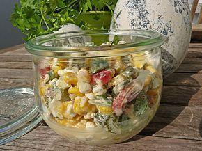 Hüttenkäse – Salat, ein sehr schönes Rezept aus…