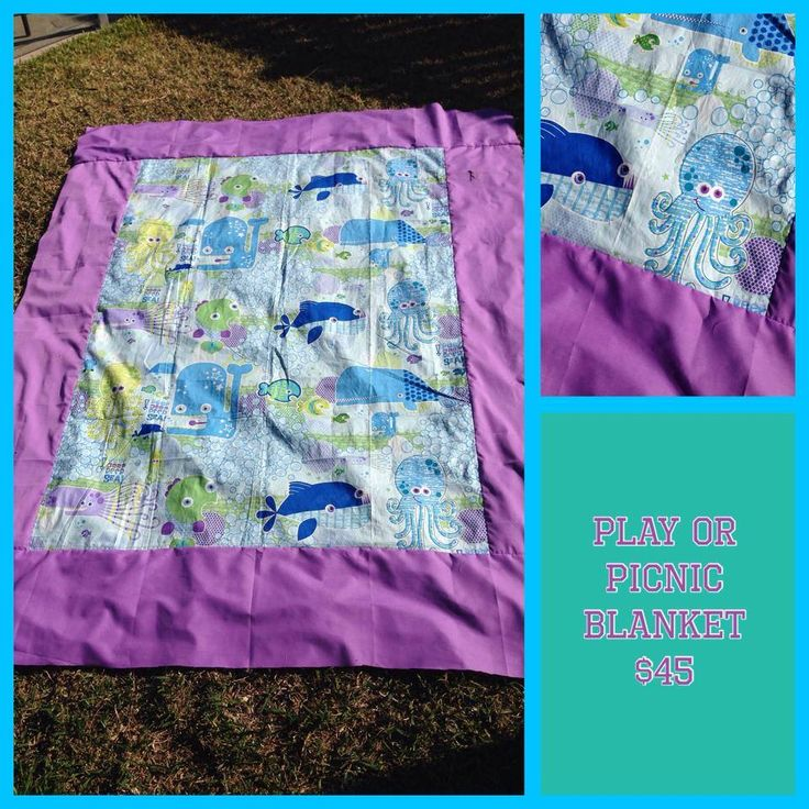 Play or Picnic Blanket Handmade by Katie Batie