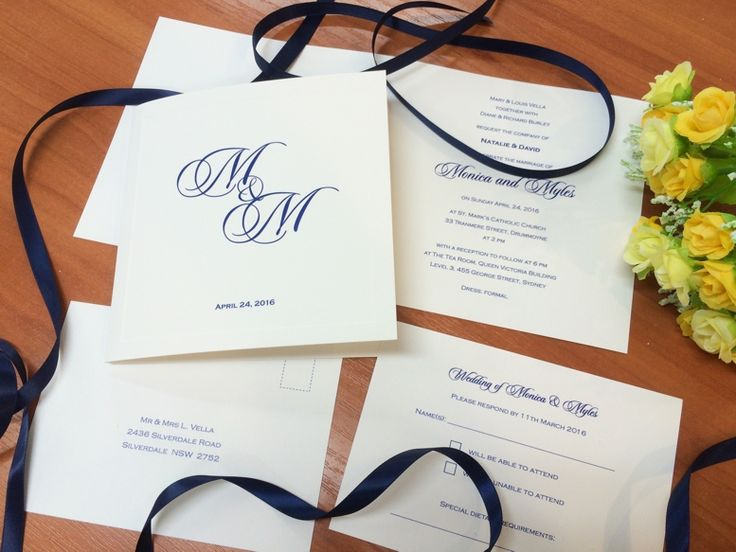 Invitation, RSVP card and seating list in classic navy and white. #fineinvitations #weddinginvitationssydney #weddingstationery #traditionalweddinginvitations #classicstationery #sydneyweddings