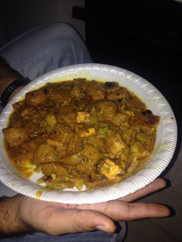 Aloo pyaz tikkad Rajasthani dish