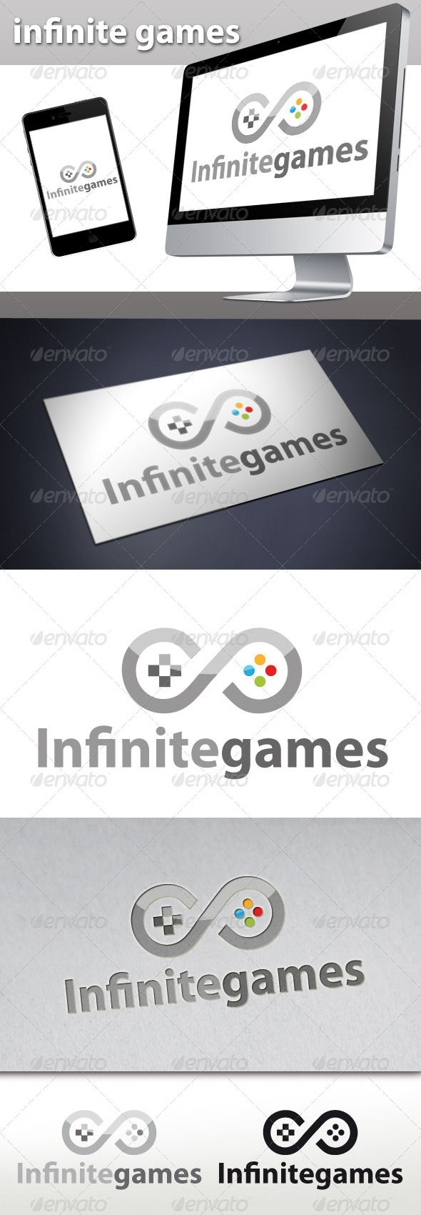 Infinite Games  - Logo Design Template Vector #logotype Download it here: http://graphicriver.net/item/infinite-games-logo/3266128?s_rank=119?ref=nexion