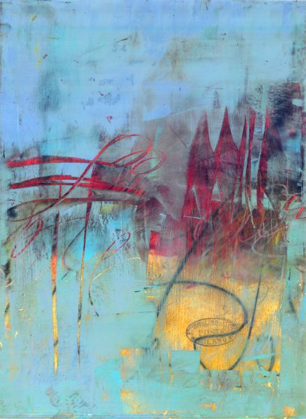 Belief by Serena Barton - oil, cold wax, ink on Arches oil paper
