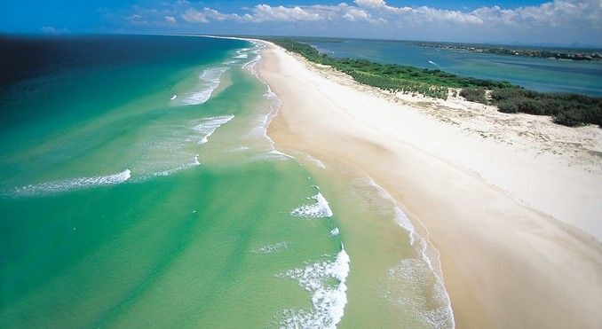 Bribie Island, where I searched for Dugongs but found Dolphins.