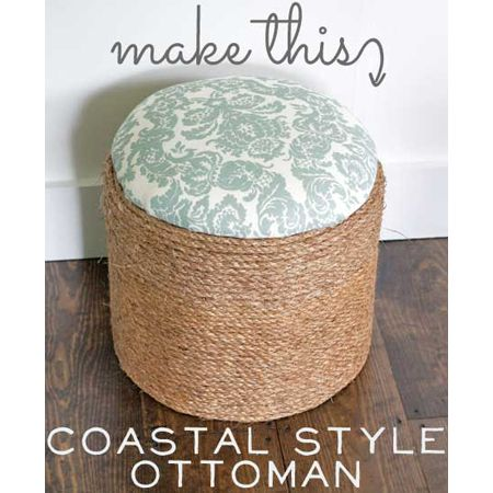 Beach Decor DIY Projects Part Two - The Cottage Market. Idea-wrap crates with rope and make a cushion seat....