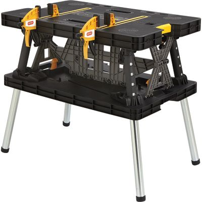 Keter Folding Work Table — 33 1/2in.L x 21 3/4in.W x 29 3/4in.H, Model #17182239. @mother3