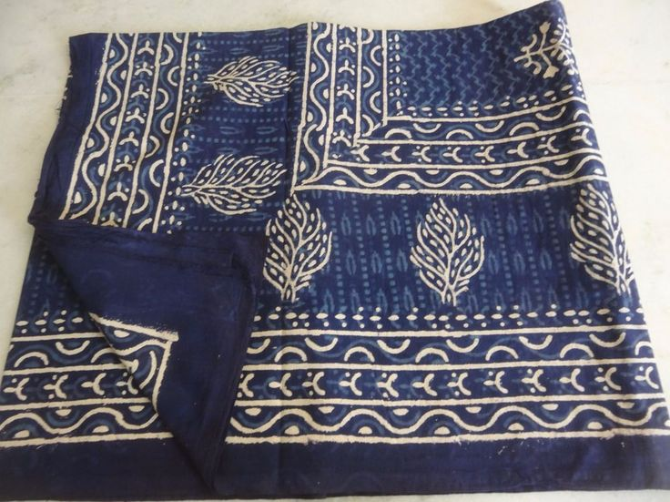 Indian Hand Made Hand Block Printed 100 Cotton Bed Cover
