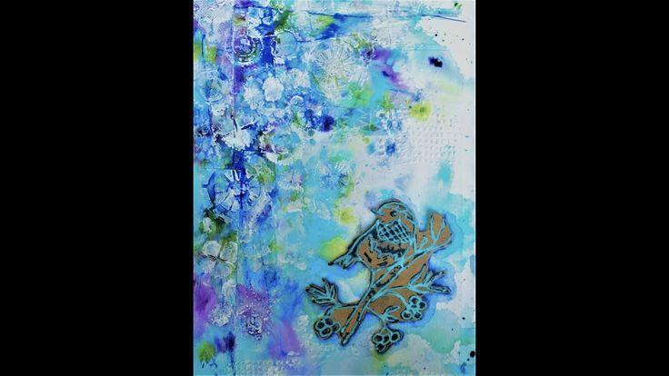 art journal page process, derwent graphik line painter pens tutorial