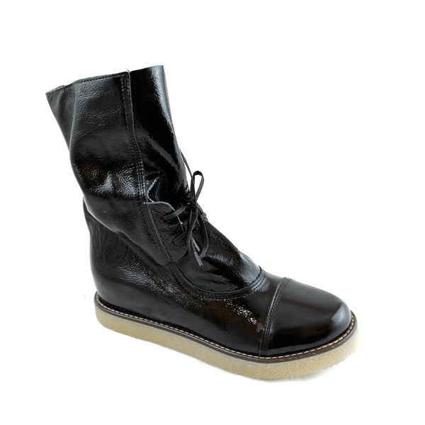 Lilimill Black Patent Boot | ELLA Shoes Vancouver | Womens Leather Boots Shoes Online