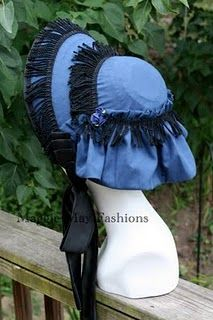 1860's spoon bonnet pattern - Google Search. Remember the hats I cut up? I am actually going to use one of them to make a hat similar to this one.