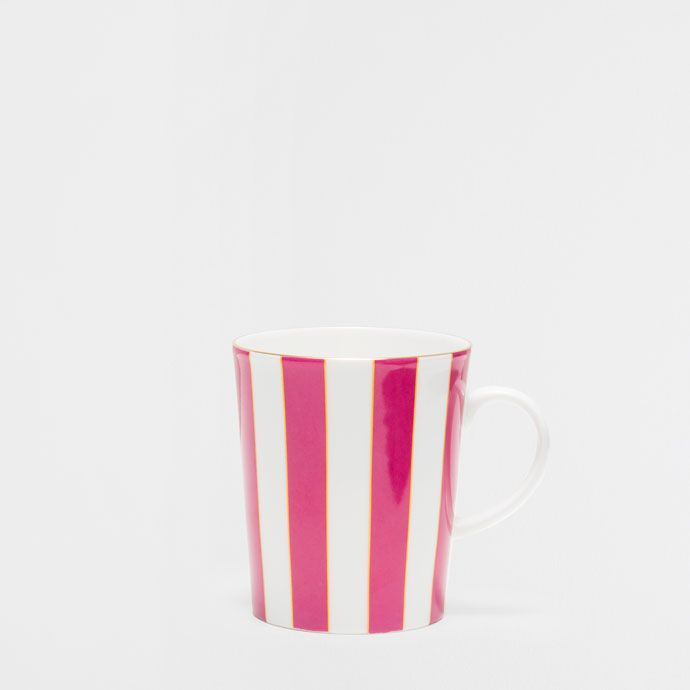 MULTICOLOURED STRIPED PORCELAIN MUG - Mugs - Tableware | Zara Home United Kingdom