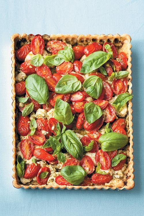 Gluten-free cheese and tomato tart with almond crust.  www.rooirose.co.za #GlutenFree