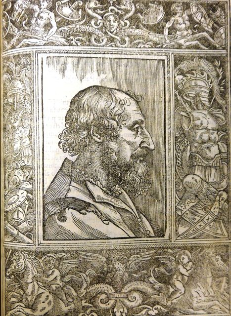 Portrait of Ludovico Ariosto, after Titian. Woodcut, with a decorative border by Francesco de Nanto, from Ludovico Ariosto, Orlando furioso (Ferrara, 1532) C.20.c.11 - See more at: http://britishlibrary.typepad.co.uk/european/2016/03/portraits-of-ariosto-or-not.html#sthash.n3MvclX5.dpuf