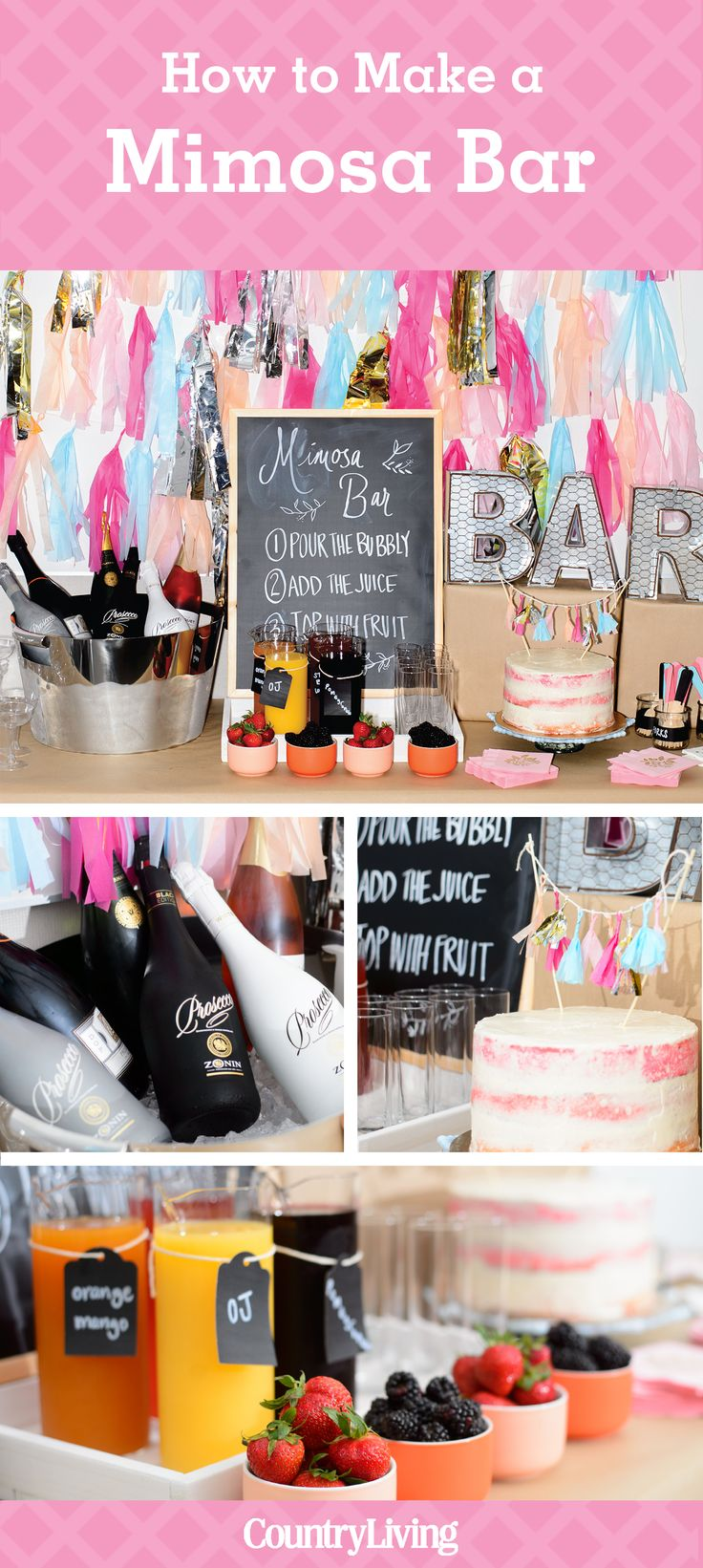 How to Make a Mimosa Bar - Bridal Shower Ideas