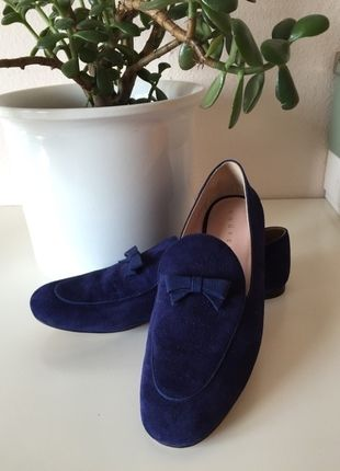 Kaufe meinen Artikel bei #Kleiderkreisel http://www.kleiderkreisel.de/damenschuhe/halbschuhe/110109414-unutzer-loafer-mokassins-halbschuhe-schuhe-gr-41-blau-wildleder-made-in-italy