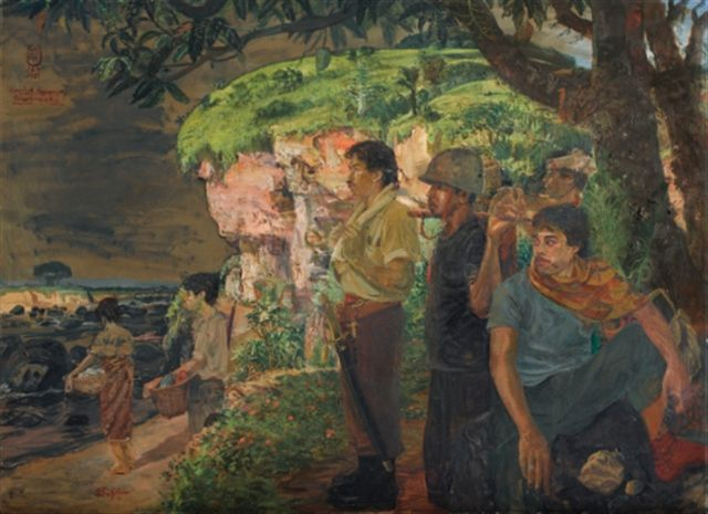 S Sudjojono - Alangkah indahnya tanah airku (How beautiful my motherland is) (sold by Sotheby's $ 495,596)