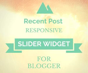 How to Install Responsive Recent Post Slider Widget on Blogger - Today I am going to show you how you can easily Install a responsive recent post slider widget in blogger.