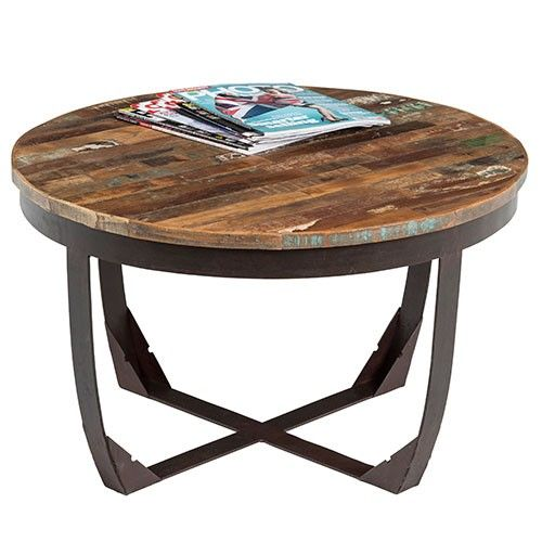 Industrial Coffee Table - Recycled Wood