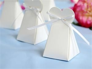 Wedding Dress Bomboniere Boxes (Set of 10)