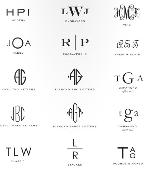 for monogramming.