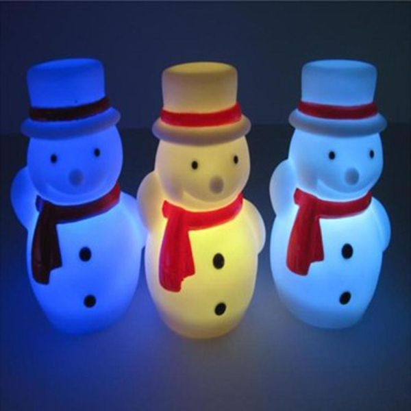 This Christmas  LED snowman light is made of durable PVC. The standing time of LED is 38 hours and the battery can be replaced. It is a good Christmas gift.  Also it is a great item for promotion.