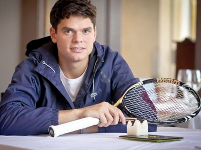Rising Canadian tennis star Milos Raonic, ranked 21st in the world as London Summer Games approach
