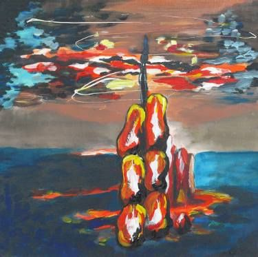"Saatchi Art Artist Elisabeta Vlad; Painting, ""Tempest"" #art"