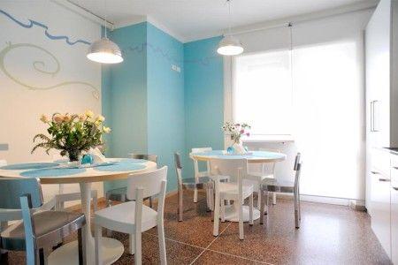 Kitchen Hall B&B Stop and Sleep Udine Front Station #art #design #sleeping #eat #food #dream #udine #travel #blue